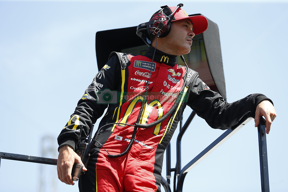 April 13, 2018 - Bristol, Tennessee, United States of America - April 13, 2018 - Bristol, Tennessee, USA: Kyle Larson (42) watches practice for the Food City 500 at Bristol Motor Speedway in Bristol, Tennessee. (Credit Image: © Stephen A. Arce/ASP via ZUMA Wire)