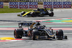 May 11, 2019 - Barcelona, Catalonia, Spain - Haas Ferrari driver Romain Grosjean (8) of France and Renault driver Daniel Ricciardo (3) of Australia during F1 Grand Prix qualifying celebrated at Circuit of Barcelona 11th May 2019 in Barcelona, Spain. (Credit Image: © Mikel Trigueros/NurPhoto via ZUMA Press)