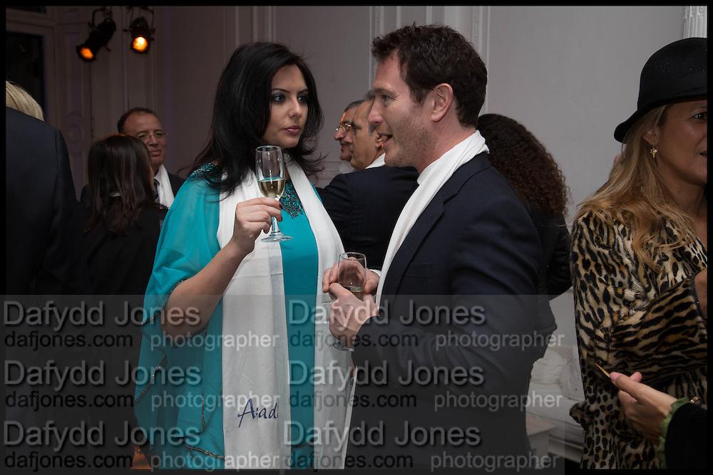 JASMIN DURAN; NICK MORAN, White By Agadir -  launch party <br /> to promote the Moroccan resort of Agadir , Il Bottaccio, 9 Grosvenor Place, London, 4 November 2014