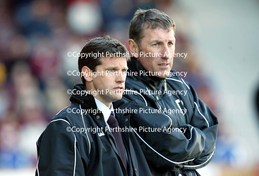 Motherwell v St Johnstone   06.04.02<br />Eric Black and Terry Butcher<br /><br />Pic by Graeme Hart<br />Copyright Perthshire Picture Agency<br />Tel: 01738 623350 / 07990 594431