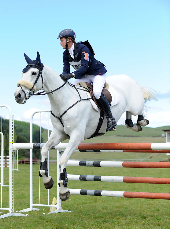 Karen Niederer rides Cape Palliser in the FEI 3 *, Show Jumping Phase, NEC Spring Horse Trial, National Equestrian Centre, Taupo, Saturday, October 11, 2014. Credit:  SNPA /Sarah Alderman