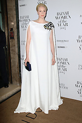 © Licensed to London News Pictures. 04/11/2014, UK. Gwendoline Christie, Harper's Bazaar Women of the Year Awards, Claridge's, London UK, 04 November 2014. Photo credit : Richard Goldschmidt/Piqtured/LNP