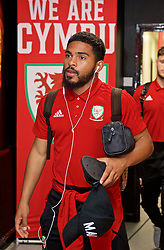 WREXHAM, WALES - Tuesday, September 10, 2019: Wales' Cole DaSilva arrives before the UEFA Under-21 Championship Italy 2019 Qualifying Group 9 match between Wales and Germany at the Racecourse Ground. (Pic by David Rawcliffe/Propaganda)