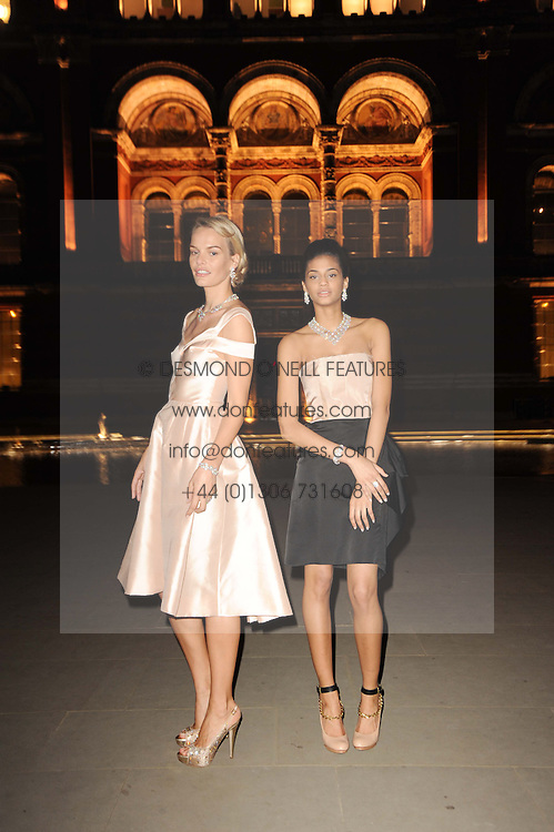 Models wearing Van Cleef & Arpels jewellery at the opening of the Victoria & Albert Museum's latest exhibition 'Grace Kelly: Style Icon' opened by His Serene Highness Prince Albert of Monaco at the V&A on 15th April 2010.