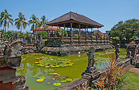 Side view of the Hall of Justice at Kerta Gosa in Klungklung in Bali Indonesia