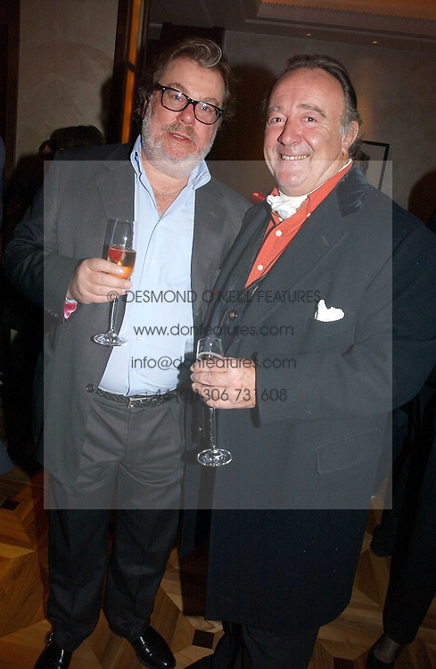 Left to right, PATRICK MEEHAN and SIR DAI LLEWELLYN at a party to celebrate the publication of 'Dancing into Waterloo' by Nick Foulkes held at The Westbury Hotel, Conduit Street, London on 14th December 2006.<br />