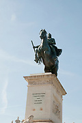 Equestrian statue of King Philip IV of Spain Plaza Oriente Madrid Spain