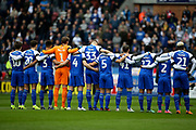 Wigan Athletic  remember during the EFL Sky Bet Championship match between Wigan Athletic and Leeds United at the DW Stadium, Wigan, England on 4 November 2018.