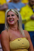 A Newport County fan during the EFL Sky Bet League 2 Play Off Final match between Newport County and Tranmere Rovers at Wembley Stadium, London, England on 25 May 2019.