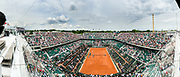 General view from Chatrier field during the Roland Garros French Tennis Open 2018, day 2, on May 28, 2018, at the Roland Garros Stadium in Paris, France - Photo Pierre Charlier / ProSportsImages / DPPI