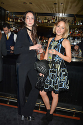 Left to right, TISH WEINSTOCK and TESS WARD at a private dinner for designer Ethan K held at Blakes Hotel, 33 Roland Gardens, London on 26th October 2016.