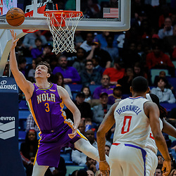 Jan 28, 2018; New Orleans, LA, USA; New Orleans Pelicans center Omer Asik (3) shoots against the LA Clippers during the second quarter at the Smoothie King Center. Mandatory Credit: Derick E. Hingle-USA TODAY Sports