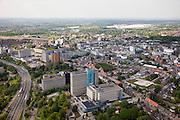 Nederland, Limburg, Gemeente Heerlen, 27-05-2013; kantoorgebouwen van het ABP Algemeen Burgerlijk Pensioenfonds en APG Algemene Pensioen Groep (uitvoeringsorganisatie).<br /> <br /> QQQ<br /> luchtfoto (toeslag op standaardtarieven);<br /> aerial photo (additional fee required);<br /> copyright foto/photo Siebe Swart.