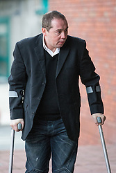 © Licensed to London News Pictures . 05/12/2013 . Stockport , UK . VINCENT ROSSI of Wingfield Avenue , Wilmslow , arrives at Stockport Magistrates Court this morning (5th December 2013) . Cliff is charged with perverting the course of justice in relation to an FA computer hacking scandal . Photo credit : Joel Goodman/LNP