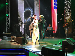 Country music and traditional Saudi songs on stage as Saudi King Salman Bin Abdelaziz (or Abdul Aziz) Al Saud receives US President Donald Trump in Riyadh, Saudi Arabia on May 20, 2017. This is the first US president's visit abroad. Photo by Balkis Press/ABACAPRESS.COM