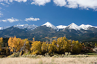 Colorado mountain peaks near Howard, Colorado