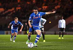 Ian Henderson of Rochdale scores the second goal from the spot - Mandatory byline: Matt McNulty/JMP - 07966386802 - 29/09/2015 - FOOTBALL - Spotland Stadium -Rochdale,England - Rochdale v Shrewsbury - SkyBet League One