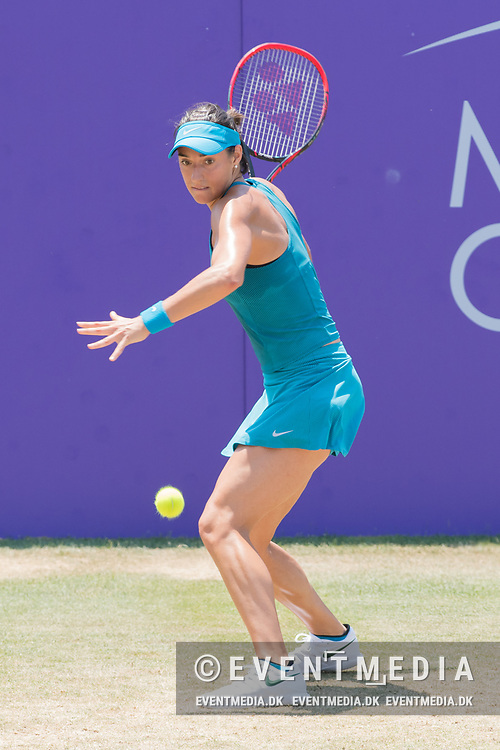 Caroline Garcia (FRA) during the Mallorca Open at Country Club Santa Ponsa on June 22, 2018 in Mallorca, Spain. Photo Credit: Katja Boll/EVENTMEDIA.