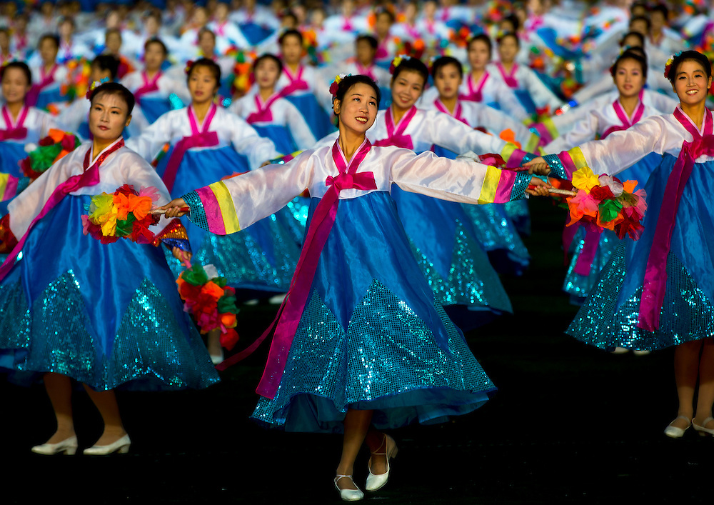 -Have you danced in the Arirang show?<br /> -yes, when I was 7, I have been chosen to lay trumpet. It is a great honor.<br /> <br /> Arirang mass games at May Day Stadium in Pyongyang, North Korea.<br /> <br /> Arirang Mass Games At May Day Stadium, Pyongyang, North Korea