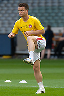 Western Sydney Wanderers midfielder Alexander Baumjohann (10) warms up at the Hyundai A-League Round 6 soccer match between Melbourne Victory and Western Sydney Wanderers at Marvel Stadium in Melbourne.