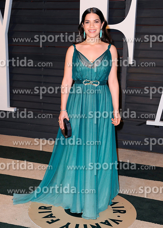 22.02.2015, Wallis Anneberg Center for the Performing Arts, Beverly Hills, USA, Vanity Fair Oscar Party 2015, Roter Teppich, im Bild America Ferrera // during the red Carpet of 2015 Vanity Fair Oscar Party at the Wallis Anneberg Center for the Performing Arts in Beverly Hills, United States on 2015/02/22. EXPA Pictures &copy; 2015, PhotoCredit: EXPA/ Newspix/ PGSK<br /> <br /> *****ATTENTION - for AUT, SLO, CRO, SRB, BIH, MAZ, TUR, SUI, SWE only*****