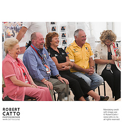 Pat McLaren;Eoin Young;Anita Hulme;Walter Wilmott;Jan McLaren at the Launch of the Bruce McLaren Movie project at the A1 Grand Prix of New Zealand at the Taupo Motorsport Park, Taupo, New Zealand.