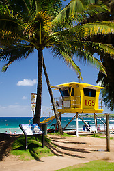 Life Guard Station #5, D.T. Fleming Beach Park, Kapalua, Maui, Hawaii, US