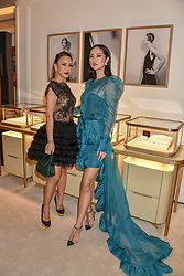 Vicky Lee and Betty Bachz at the reopening of the Cartier Boutique, New Bond Street, London, England. 31 January 2019. <br /> <br /> ***For fees please contact us prior to publication***