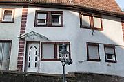 hässliche modernisiertes Haus Altstadt, Walldürn, Odenwald, Naturpark Bergstraße-Odenwald, Baden-Württemberg, Deutschland | ugly old house, Walldürn, Odenwald, Baden-Wuerttemberg, Germany