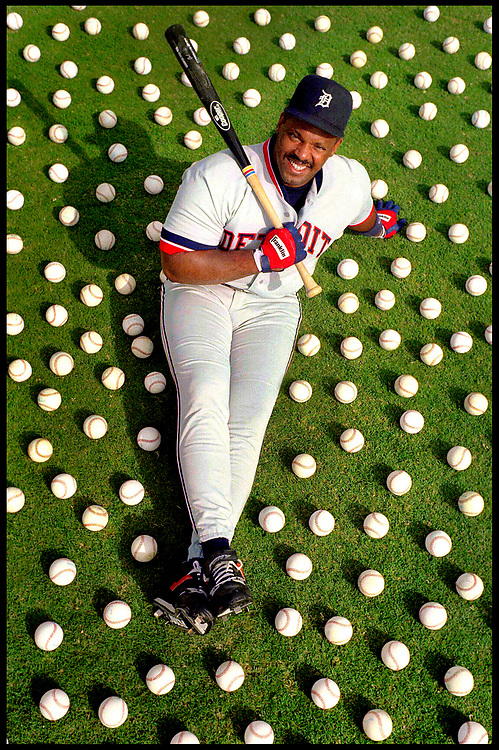 Three-time consecutive Major League RBI leader Cecil Fielder. For Booth Newspapers