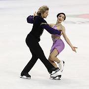 Meryl Davis and Charlie White compete during the 2014 US Figure Skating Championships at the TD Garden on January 11, 2014 in Boston, Massachusetts.