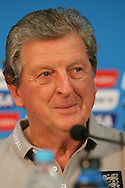 England manager Roy Hodgson smiles during the England press conference at Arena da Amazonia, Manaus, Brazil.<br /> Picture by Andrew Tobin/Focus Images Ltd +44 7710 761829<br /> 13/06/2014