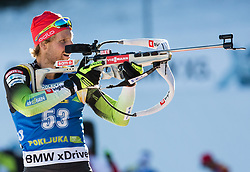 Klemen Bauer (SLO) in action during the Men 10km Sprint at day 6 of IBU Biathlon World Cup 2018/19 Pokljuka, on December 7, 2018 in Rudno polje, Pokljuka, Pokljuka, Slovenia. Photo by Vid Ponikvar / Sportida