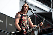 Bullet for My Valentine performing at Carolina Rebellion at Metrolina Expo in Charlotte, NC on May 7, 2011
