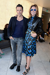 REBECCA KORNER and ANDREAS SIEGFRIED at the launch of the Odabash Macdonald Resort 2014 swimwear collection at ME Hotel, London on 25th June 2013.