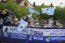 Friends and family of the Bristol Rovers players on a second bus - Photo mandatory by-line: Dougie Allward/JMP - Mobile: 07966 386802 - 25/05/2015 - SPORT - Football - Bristol - Bristol Rovers Bus Tour