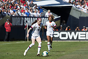 USA midfielder Rose Lavelle (16) moves the ball against Korea Republic during an international friendly soccer game in Chicago, Sunday, Oct. 6, 2019, in Chicago. The team splayed to a 1-1 tie. (Max Siker/Image of Sport)