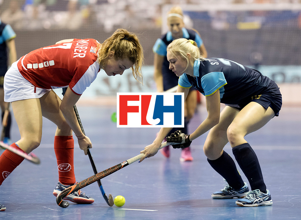 BERLIN - Indoor Hockey World Cup<br /> Quarterfinal 2: Ukraine - Switzerland<br /> foto: MURER Nora.<br /> WORLDSPORTPICS COPYRIGHT FRANK UIJLENBROEK
