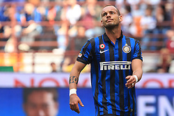 29.04.2012, Stadion Giuseppe Meazza, Mailand, ITA, Serie A, Inter Mailand vs AC Cesena, 35. Spieltag, im Bild Wesley Sneijder Inter // during the football match of Italian 'Serie A' league, 35th round, between Inter Mailand and AC Cesena at Stadium Giuseppe Meazza, Milan, Italy on 2012/04/29. EXPA Pictures © 2012, PhotoCredit: EXPA/ Insidefoto/ Paolo Nucci..***** ATTENTION - for AUT, SLO, CRO, SRB, SUI and SWE only *****
