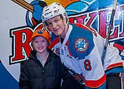 KELOWNA, CANADA - DECEMBER 27:  Home Hardware Stick Boy with Jack Cowell #8 of the Kelowna Rockets at the Kelowna Rockets game on December 27, 2017 at Prospera Place in Kelowna, British Columbia, Canada.  (Photo By Cindy Rogers/Nyasa Photography,  *** Local Caption ***