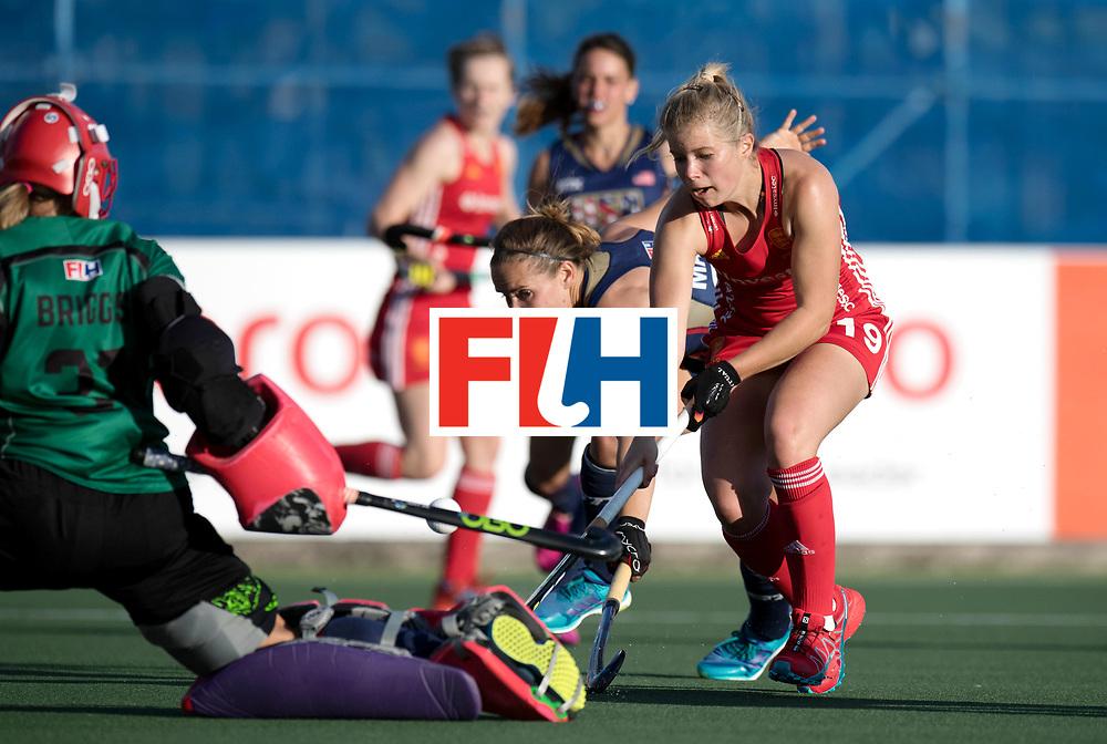 AUCKLAND - Sentinel Hockey World League final women<br /> Match id: 10304<br /> 15 USA v ENG (QF)<br /> Foto: Sophie Bray ascores 002<br /> .<br /> WORLDSPORTPICS COPYRIGHT FRANK UIJLENBROEK