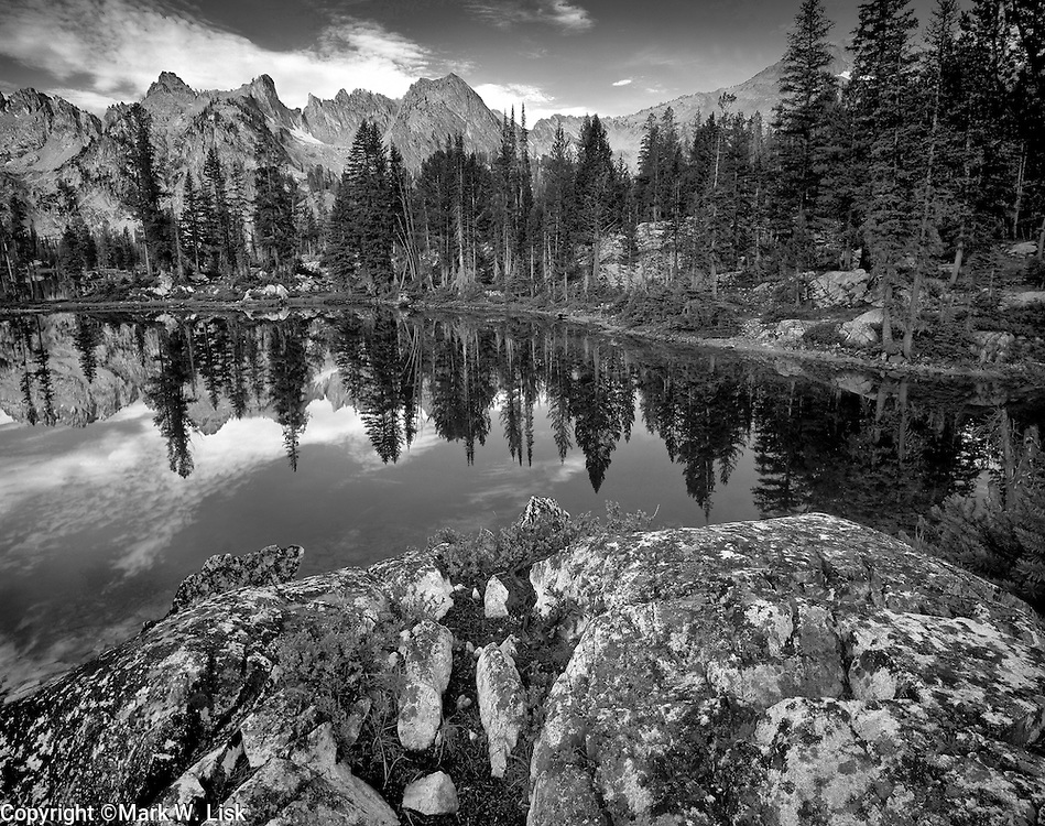 Alice Lake, one of the most popular detinations for backpackers in the Sawtooth Wilderness.