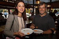 "The Hyde Park Chamber of Commerce held a dinner crawl Tuesday, October 3rd, 2017 along both 53rd street and 57th street.<br /> <br /> 0383 – Liz Dubats and Rich Hansen enjoy food from A-10 located at 1462 E. 53rd street.<br /> <br /> Please 'Like' ""Spencer Bibbs Photography"" on Facebook.<br /> <br /> Please leave a review for Spencer Bibbs Photography on Yelp.<br /> <br /> All rights to this photo are owned by Spencer Bibbs of Spencer Bibbs Photography and may only be used in any way shape or form, whole or in part with written permission by the owner of the photo, Spencer Bibbs.<br /> <br /> For all of your photography needs, please contact Spencer Bibbs at 773-895-4744. I can also be reached in the following ways:<br /> <br /> Website – www.spbdigitalconcepts.photoshelter.com<br /> <br /> Text - Text ""Spencer Bibbs"" to 72727<br /> <br /> Email – spencerbibbsphotography@yahoo.com"