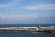 northwest lighthouse at Bandon Oregon coastline