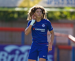 LONDON, ENGLAND - Saturday, September 29, 2018: Chelsea's Ethan Ampadu during the Under-23 FA Premier League 2 Division 1 match between Chelsea FC and Liverpool FC at The Recreation Ground. (Pic by David Rawcliffe/Propaganda)