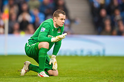 MANCHESTER, ENGLAND - Saturday, November 28, 2009: Manchester City's goalkeeper Shay Given looks dejected as his side draw 1-1 with Hull City during the Premiership match at the City of Manchester Stadium. (Photo by David Rawcliffe/Propaganda)