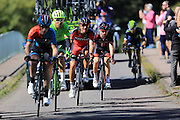 Break Away group - Jonathan McEvoy (NFTO), Jack Bauer (Cannondale), Erick Rowsell (Madison Genesis), Javier Moreno (Movistar), Amael Moinard (BMC) during the Stage 5 of the Tour of Britain 2016 from Aberdare to Bath, United Kingdom on 8 September 2016. Photo by Daniel Youngs.
