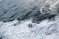 Sea back wash from ferry leaving the Aran Islands in Galway Ireland