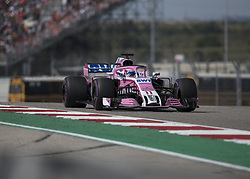 October 21, 2018 - Austin, USA - Racing Point Force India driver Sergio Perez (11) of Mexico heads into Turn 7 during the Formula 1 U.S. Grand Prix at the Circuit of the Americas in Austin, Texas on Sunday, Oct. 21, 2018. (Credit Image: © Scott Coleman/ZUMA Wire)
