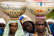 Refugee women from Central African Republic in the village of Tongo Gandima, near Bertoua, Cameroon, on Tuesday September 15, 2009.